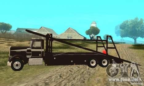 Kenworth Car Hauler pour GTA San Andreas laissé vue