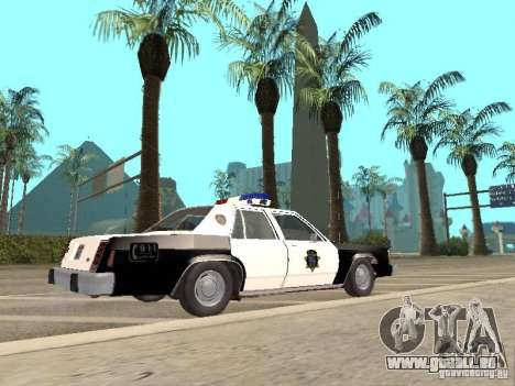 Ford LTD Crown Victoria Interceptor LAPD 1985 pour GTA San Andreas laissé vue