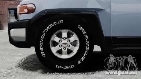 Toyota FJ Cruiser pour GTA 4 Vue arrière