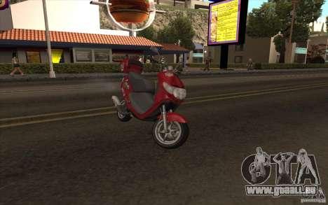 Suzuki Addres pour GTA San Andreas sur la vue arrière gauche