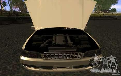 Nissan Cedric Stock pour GTA San Andreas sur la vue arrière gauche