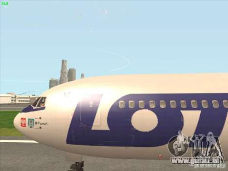 Boeing 767-300 LOT Polish Airlines für GTA San Andreas Rückansicht