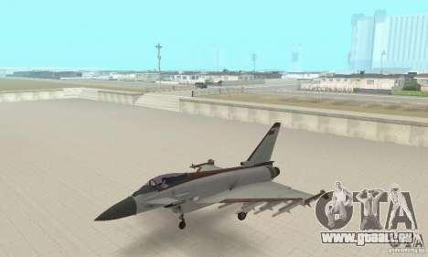 EF-2000 Typhoon V1.3 pour GTA San Andreas vue de droite