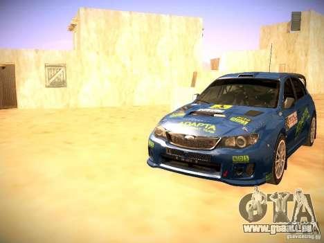 Subaru impreza Tarmac Rally pour GTA San Andreas vue de dessous