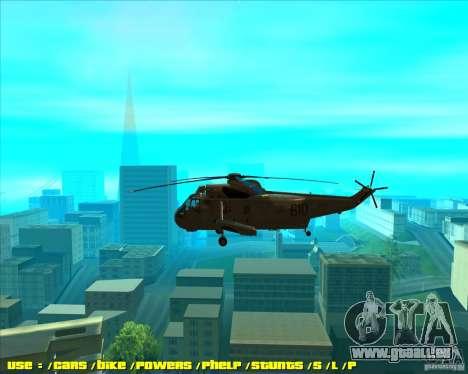 SH-3 Seaking pour GTA San Andreas laissé vue