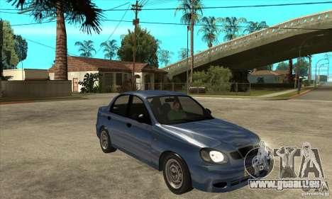 Daewoo Lanos v2 pour GTA San Andreas vue arrière