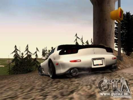 Mazda RX7 Tuning pour GTA San Andreas sur la vue arrière gauche