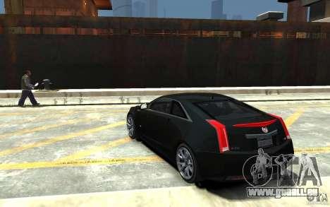 Cadillac CTS-V Coupe 2011 v.2.0 pour GTA 4 Vue arrière de la gauche