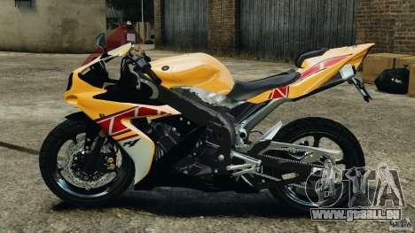 Yamaha YZF-R1 2012 pour GTA 4 est une gauche