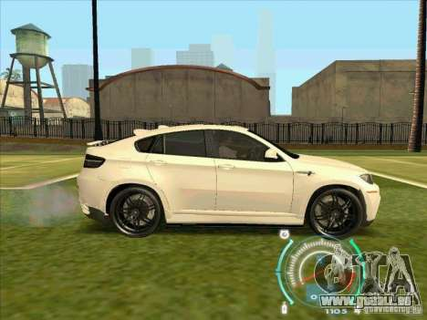 BMW X6 M Hamann Design für GTA San Andreas zurück linke Ansicht