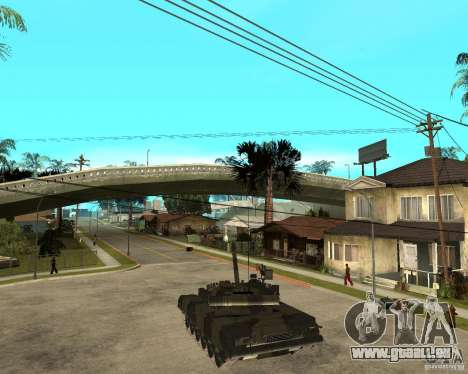 T-80U pour GTA San Andreas laissé vue