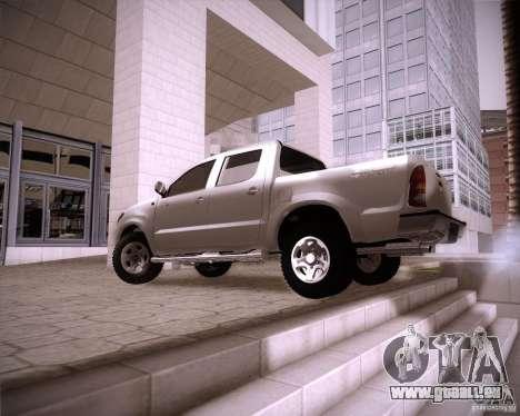 Toyota Hilux für GTA San Andreas zurück linke Ansicht