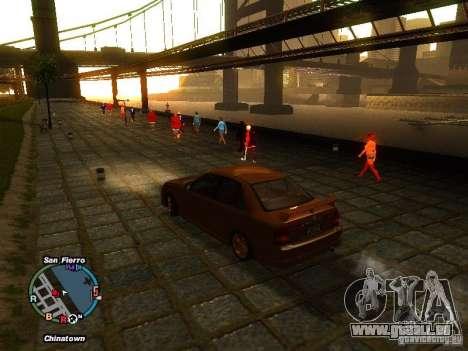 Mazda Mazdaspeed Familia 2001 pour GTA San Andreas laissé vue