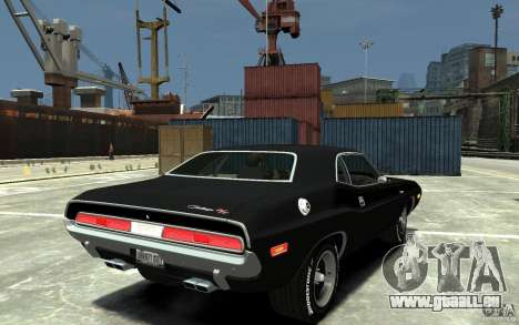 Dodge Challenger R/T Hemi 1970 pour GTA 4 est un droit