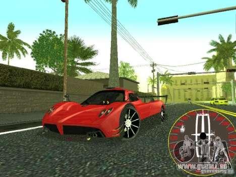 Nouveau compteur de vitesse Lincoln pour GTA San Andreas quatrième écran