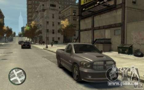 Dodge Ram SRT10 für GTA 4 Rückansicht