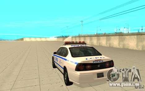 Patrouille de la police de GTA 4 pour GTA San Andreas sur la vue arrière gauche