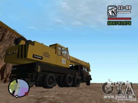 KrAZ-250 MKAT-40 für GTA San Andreas Rückansicht