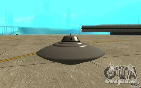 Bob Lazar Ufo für GTA San Andreas zurück linke Ansicht