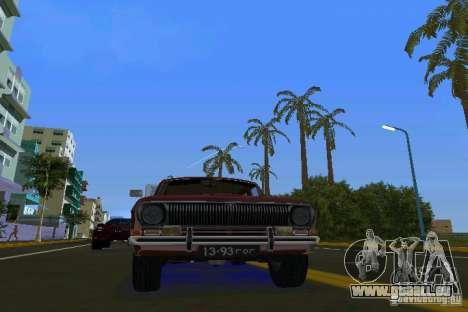 GAZ Volga 2402 pour GTA Vice City sur la vue arrière gauche
