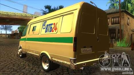 Services de transport Gazelle 2705 pour GTA San Andreas sur la vue arrière gauche