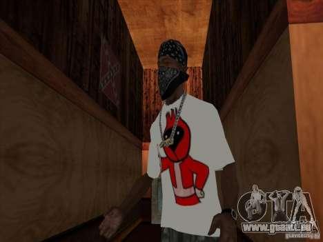 Omsk oiseaux t-shirt pour GTA San Andreas deuxième écran