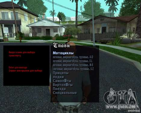 Spavn Maschinen Rus für GTA San Andreas
