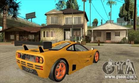 McLAREN F1 GTR GULF 1996 für GTA San Andreas rechten Ansicht