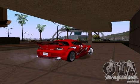 Mazda RX-8 Speed pour GTA San Andreas sur la vue arrière gauche