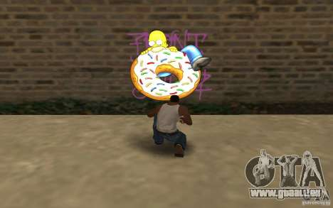 Homer Graffiti Mod für GTA San Andreas