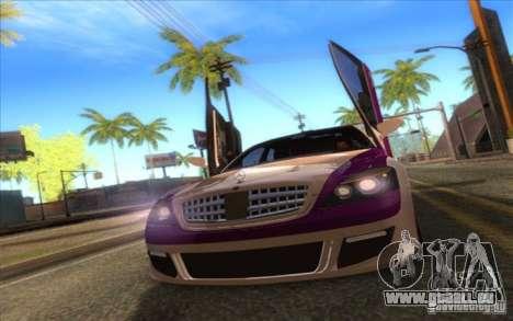 Mercedes-Benz S600 AMG WCC Edition für GTA San Andreas Rückansicht
