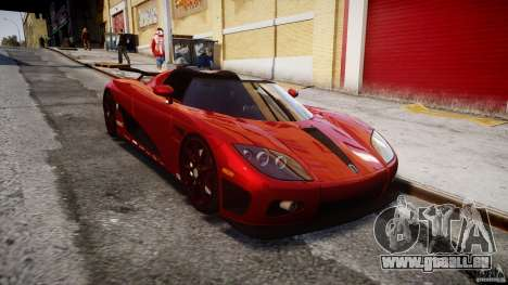 Koenigsegg CCXR Edition für GTA 4 Rückansicht