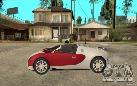 Bugatti Veyron Gran Sport 2011 für GTA San Andreas linke Ansicht