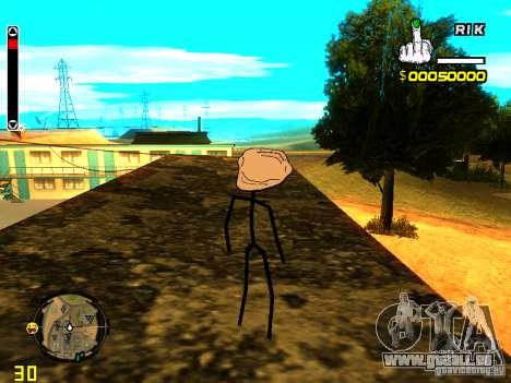 TrollFace skin pour GTA San Andreas quatrième écran