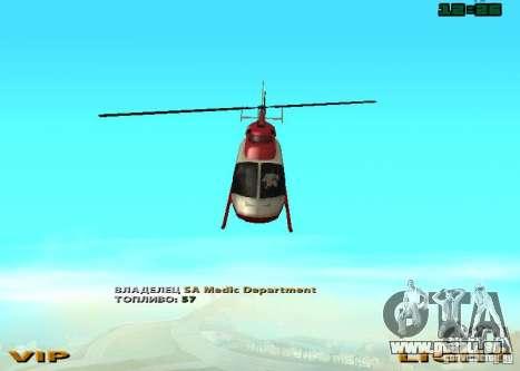 New Maverick pour GTA San Andreas vue de droite
