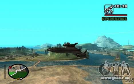 SR-71 Blackbird pour GTA San Andreas