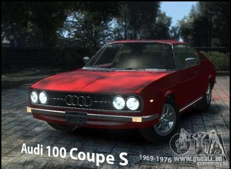 Audi 100 Coupe S 1974 pour GTA 4
