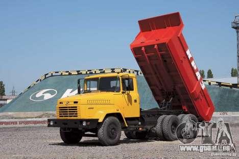 Camion KrAZ 65055 pour GTA San Andreas vue de dessus