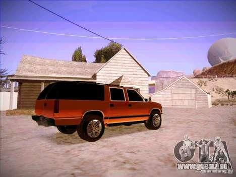 Chevrolet Suburban 1998 pour GTA San Andreas vue de droite