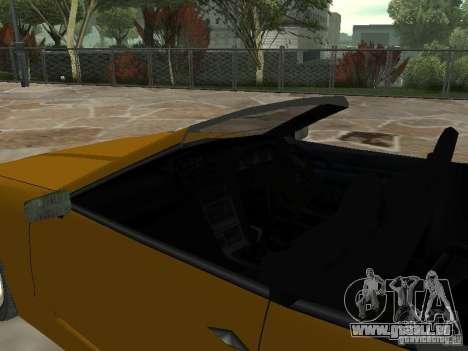 Elegie von Convertible Tops für GTA San Andreas zurück linke Ansicht