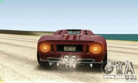 Ford GTX1 Roadster V1.0 pour GTA San Andreas vue intérieure