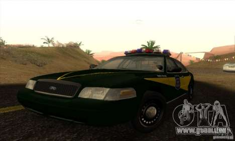 Ford Crown Victoria Indiana Police pour GTA San Andreas