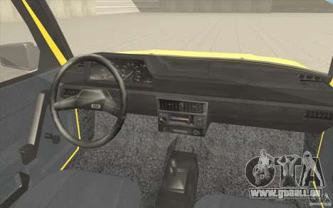 2141 Moskvitch AZLK Taxi v2 pour GTA San Andreas vue de dessus