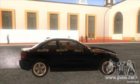 BMW 135i (E82) pour GTA San Andreas laissé vue