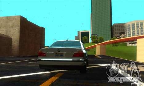 BMW 750i E38 pour GTA San Andreas sur la vue arrière gauche
