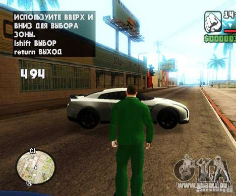 Сar Laich-Spawn Autos für GTA San Andreas her Screenshot