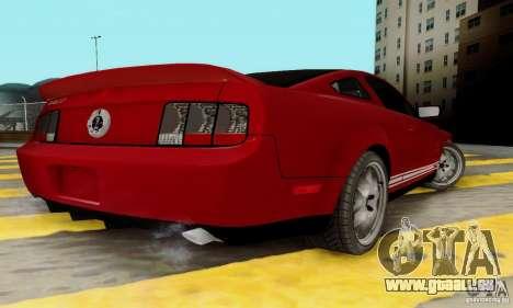 Ford Shelby GT500 pour GTA San Andreas vue de droite