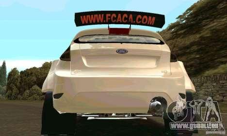 Ford Fiesta Rally pour GTA San Andreas vue de dessous