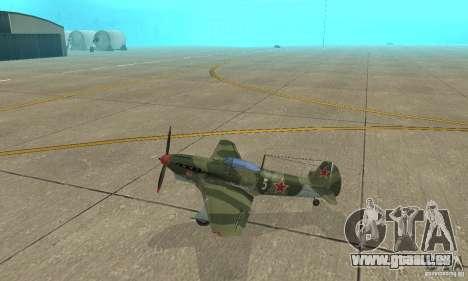 Jak-9 during WORLD WAR II für GTA San Andreas linke Ansicht