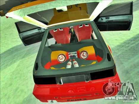 Toyota Trueno AE86 Calibri-Ace für GTA San Andreas Rückansicht